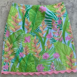 Lilly Pulitzer knees length printed skirt